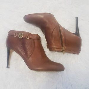 Coach | Salene Brown Leather Booties 9.5